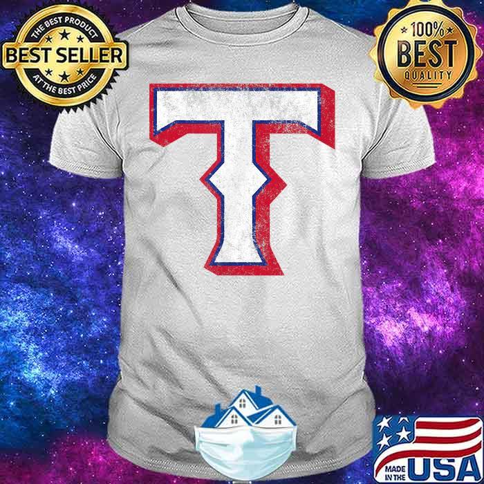 Vintage Texas Baseball T Distressed Shirt